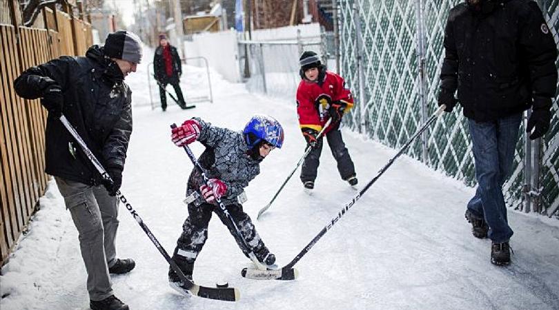 hockey ruelle hiver