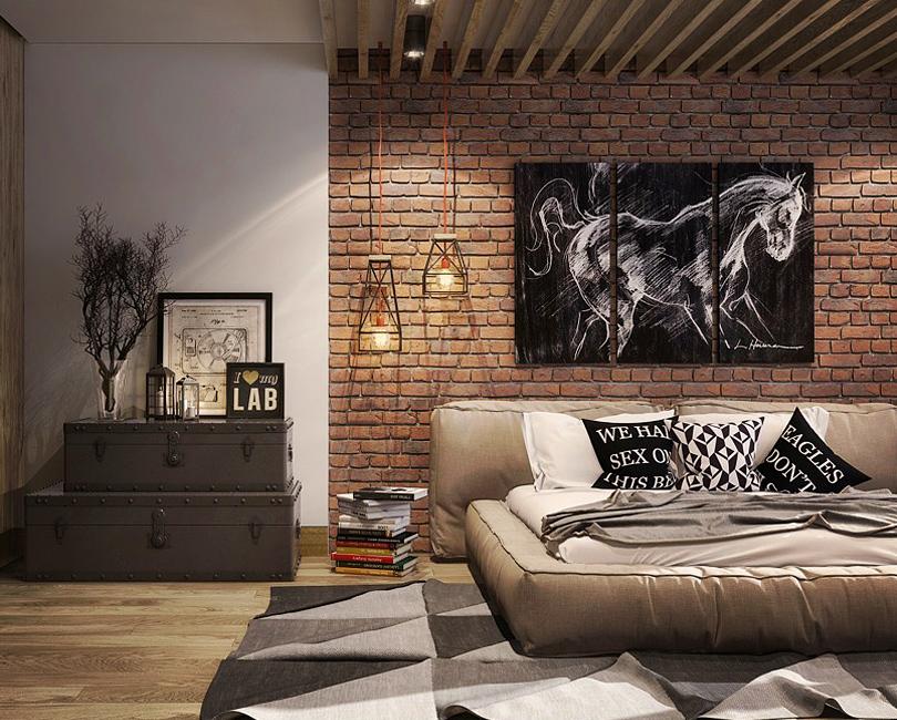 Chambres au style industriel