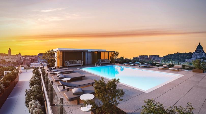 westbury montréal la piscine sur la terrasse