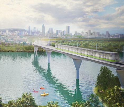 REM vue du pont Champlain