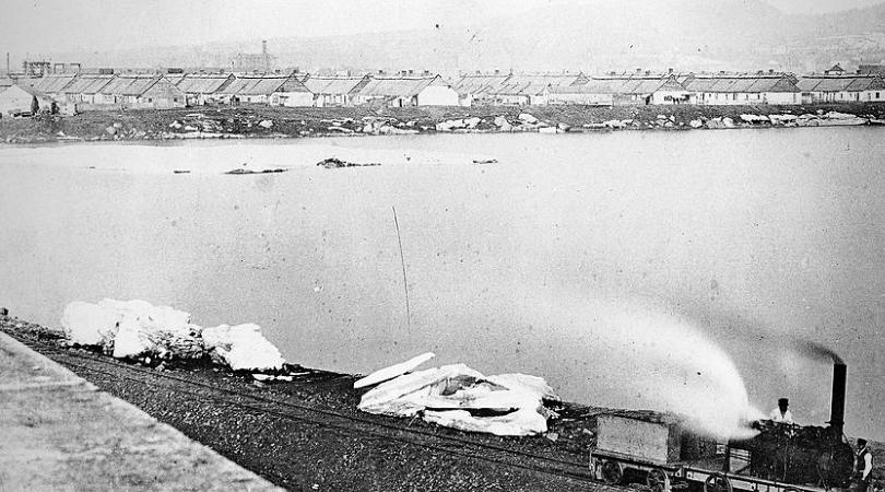 épidémie de typhus anciennesbaraques quarantaine victoriatown