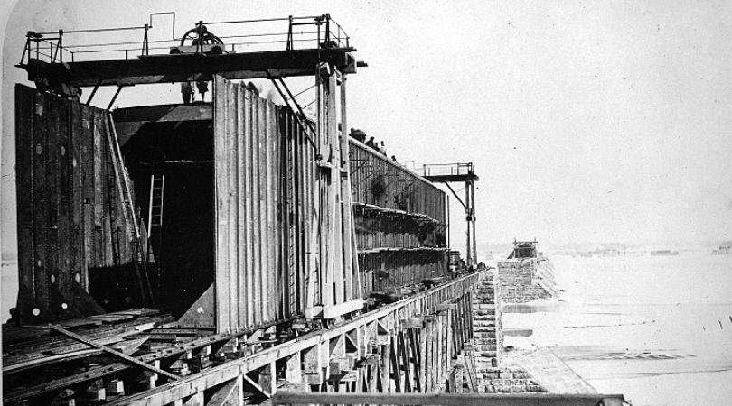 Victoriatown construction du pont Victoria