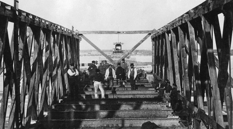 victoriatown ouvrier de construction du pont victoria