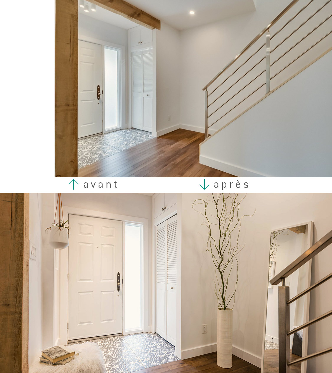 saint-lambert home staging escalier