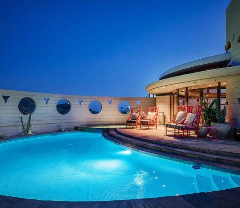parfaite maison ronde piscine