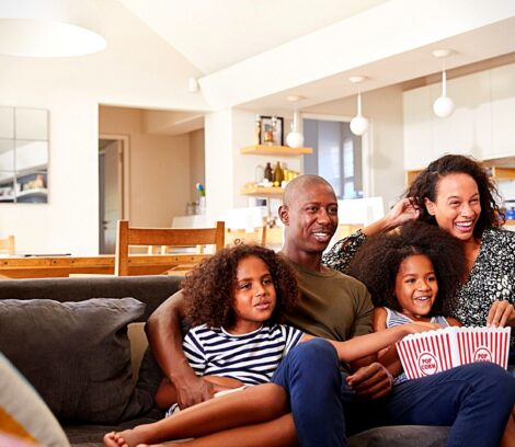 Family with Helix TV