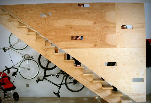 escalier-à-rack-à-vélo