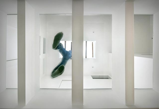 le plancher de vitre