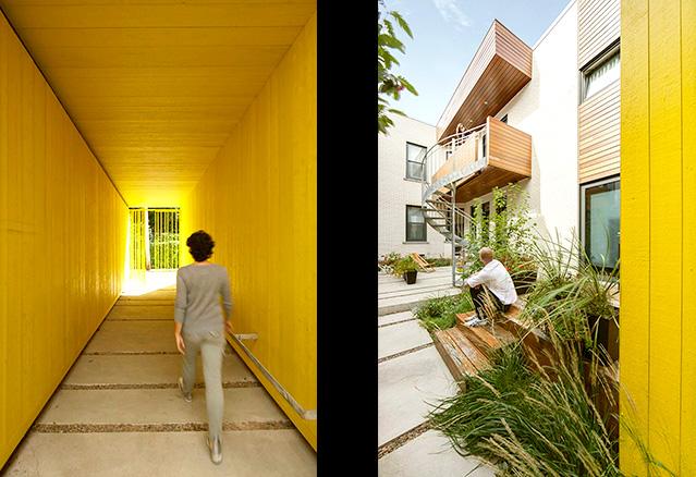 le corridor et la terrasse intérieur